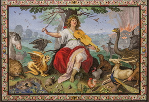 Scipion Borghese depicted as the new Orpheus (Provenzale, 17th AD)