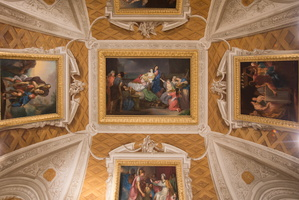 Ceiling of the Dido room - Suicide of Dido (von Maron, XVIIIe)