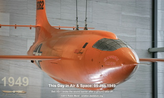 "Bell XS-1 ""Glamourous Glennis"", first aicraft to exceed the speed of sound"