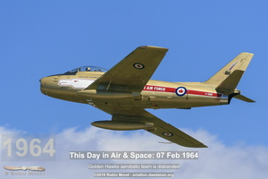 Canadair Sabre 5 in Golden Hawks colors. Oshkosh, WI