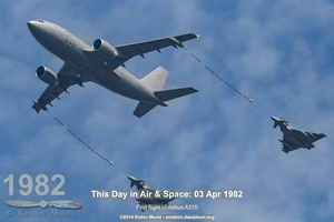 Airbus A310 MRTT Luftwaffe with Typhoon in air to air refueling positions