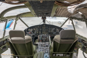 Fairchild C-119G Boxcar cockpit