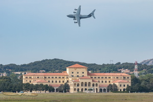 A400M over Ecole de l'Air (French Air Force Academy)