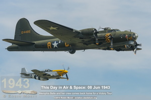 "Boeing B-17G Superfortress ""Memphis Belle"" - Flying Legends Airshow, Duxford, 2014"
