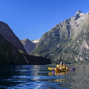 Kayak sur Milford Sound